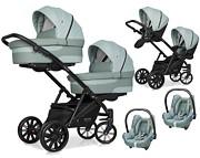 Riko Team 3w1 wózek dla bliźniąt (2x spacerówka + 2x gondola + 2x fotelik Cabrio ) 2021 KURIER GRATIS