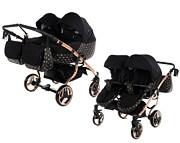 Wózek dla bliźniąt  Tako Duo Laret Imperial (stelaż+2xspacerówka+2x gondola) GRATIS KURIER