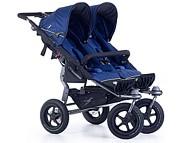 PROMOCJA! Bliźniaczy wózek TFK Twin Adventure 2 (spacerówka) 2019 kolor niebieski KURIER GRATIS