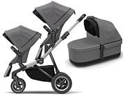 Thule Sleek wózek dla rodzeństwa (stelaż+ siedzisko spacerowe+ dodatkowe siedzisko + gondola) 2018/2019 KURIER GRATIS
