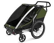 Thule Chariot Cab 2 Przyczepka rowerowa kolor Cypress Green-Black 2021 KURIER GRATIS