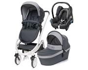 Wyprzedaż! 4Baby Cosmo 3w1 (spacerówka + gondola + fotelik Maxi Cosi Cabrio wybrane kolory ) dark grey WYSYŁKA 24H /