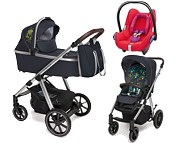 Baby Design Bueno 3w1 (spacerówka + gondola + fotelik Maxi Cosi Cabrio red orchid) 2020 / KURIER GRATIS
