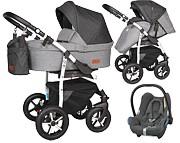 Baby Merc Q9 Plus 3w1 (spacerówka + gondola + fotelik Maxi Cosi Cabrio) 2021 KURIER GRATIS