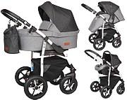 Baby Merc Q9 Plus 3w1 (spacerówka + gondola + fotelik Carlo z adapterem) 2021 KURIER GRATIS