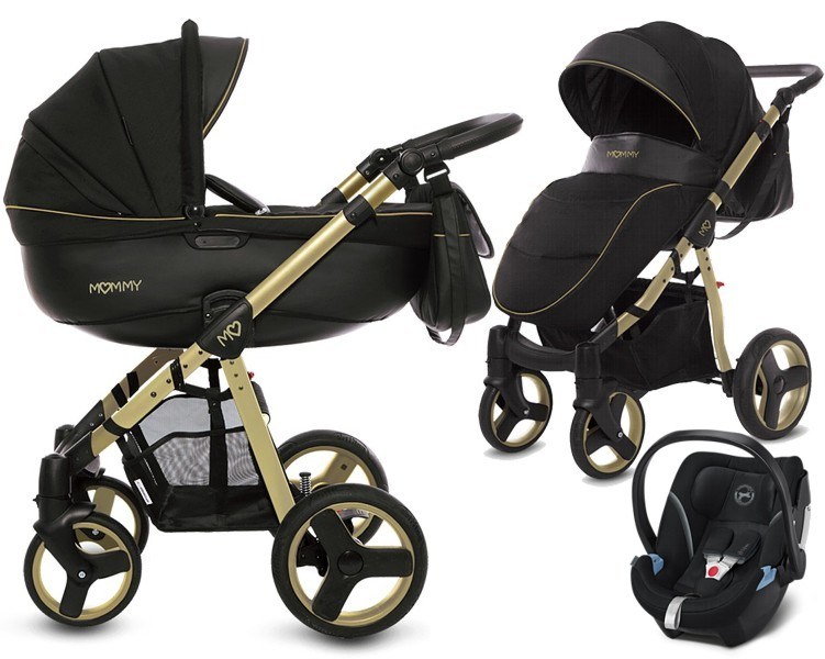 BabyActive Mommy Gold Magic 3w1 (spacerówka + gondola + fotelik Cybex Aton 5) 2019 KURIER GRATIS