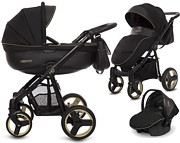 BabyActive Mommy Gold Magic 3w1 (spacerówka + gondola + fotelik Kite z adapterem) 2019 / KURIER GRATIS