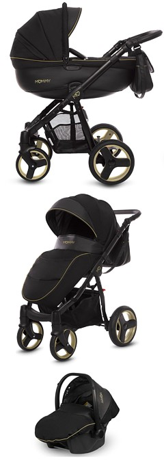 BabyActive Mommy Gold Magic 2019 (spacerówka + gondola+ fotelik Kite z adapterem) KURIER GRATIS