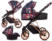 BabyActive Musse Rose 3w1 (spacerówka + gondola + fotelik Kite z adapterem) 2020 KURIER GRATIS