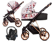 BabyActive Musse Rose 3w1 (spacerówka + gondola + fotelik Maxi Cosi Cabriofix) 2020 KURIER GRATIS