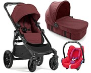 PROMOCJA! Baby Jogger City Select Lux 3w1 (spacerówka + gondola Bassinet Kit + fotelik Cabrio Red Orchid) Port GRATIS KURIER