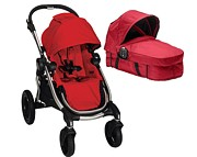 PROMOCJA!! Wózek 2w1 Baby Jogger City Select (spacerówka k. Ruby+ gondola Bassinet Kit k. Red)  GRATIS KURIER