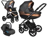 Wózek 3w1 Baby Merc Faster 3 Limited Edition (spacerówka + gondola+ fotelik Kite z adapterem) KURIER GRATIS