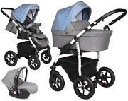 Wózek Baby Merc Q9 Plus (spacerówka + gondola+ fotelik Carlo z adapterem) 2019 KURIER GRATIS