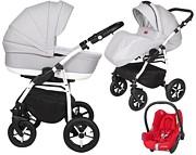 Baby Merc Zipy Q Plus 3w1 (spacerówka + gondola + fotelik Maxi Cosi Cabriofix) 2021 KURIER GRATIS
