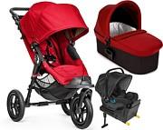 PROMOCJA! Baby Jogger City Elite (spacerówka+ gondola Deluxe+ fotelik City Go i-size+ baza isofix i-Size)  Red GRATIS KURIER