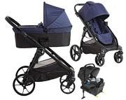 Baby Jogger City Premier 4w1 (spacerówka + gondola Deluxe + fotelik City Go i-size + baza Isofix i-size) indigo / KURIER GRATIS