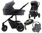 Britax Smile III 4w1 ( spacerówka + gondola + fotelik Maxi Cosi Cabrio + baza FamilyFix ) 2020 Zestaw Comfort