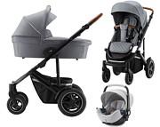 Britax Smile III 3w1 (spacerówka + gondola + fotelik Britax Baby-Safe 2) 2021 Nordic Grey KURIER GRATIS