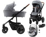 Britax Smile III 4w1 (spacerówka + gondola + Baby-Safe 2 + baza isofix Flex i-size) 2021 Nordic Grey KURIER GRATIS