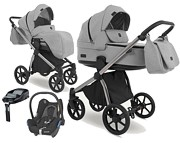 Camarelo Previo 4w1 (spacerówka + gondola + fotelik Maxi Cosi Cabrio + baza Familyfix) 2021 KURIER GRATIS