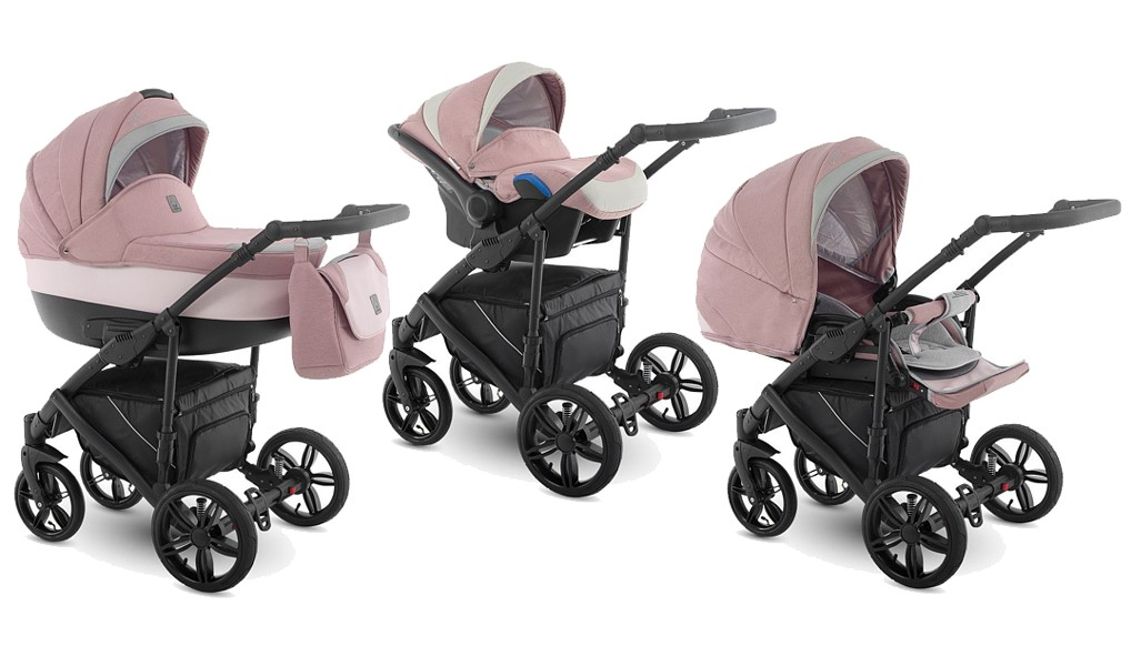 Camarelo Baleo Pink Limited edition 3in1 (pushchair + carrycot + Kite car  seat with adapters) 2019 [id29780] - €390 : Dino, Dino