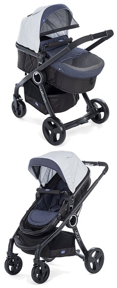 2w1 Chicco Urban PLUS Crossover 2017 (spacerówka +gondola)