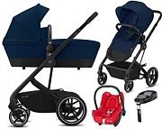 Cybex Balios S 4w1 (stelaż + spacerówka/gondola + fotelik Maxi Cosi Cabrio+ baza Familyfix) 2020 KURIER GRATIS