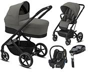 Cybex Balios S Lux 4w1 (spacerówka + gondola S + fotelik Maxi Cosi Cabrio + baza Familyfix) czarny stelaż 2020 / KURIER GRATIS