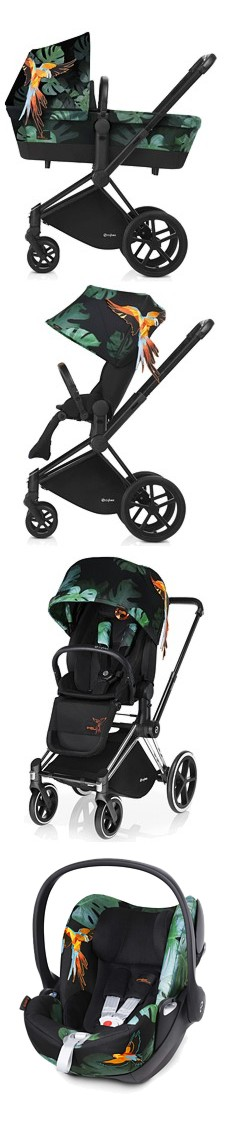 3w1 Cybex Priam Fashion Edition Birds of Paradise 2017 (spacerówka LUX+ gondola+ fotelik Cloud Q) KURIER GRATIS