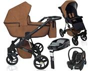 Dorjan Rocco Eco 4w1 ( spacerówka + gondola + fotelik Cabrio + baza Familyfix ) 2021 KURIER GRATIS