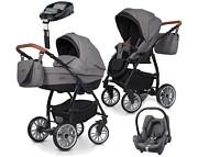 PROMOCJA Euro-Cart Passo Pro 4w1 (spacerówka + gondola + fotelik Maxi Cosi Cabrio + baza Familyfix) 2019 KURIER GRATIS