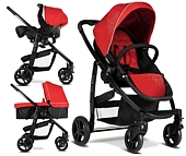 W�zki Graco Evo 4w1 (spacer�wka+gondola+ fotelik Junior Baby +baza) 2013/2014 kolor Chilli
