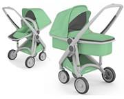 Eko-wózek Greentom Reversible 2w1 (stelaż + spacerówka + gondola + rama) 2021 KURIER GRATIS