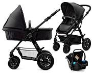 WYPRZEDAŻ! Kinderkraft MOOV 3w1 (spacerówka + gondola + fotelik + adapter) Black 2019 KURIER GRATIS
