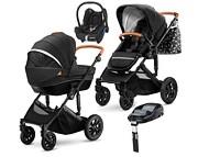 Kinderkraft Prime 4w1 (spacerówka + gondola +  fotelik Maxi Cosi Cabriofix + baza Familyfix) 2020 KURIER GRATIS