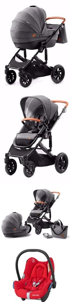 3w1 Kinderkraft Prime z fotelikiem Maxi Cosi Cabrio opinie