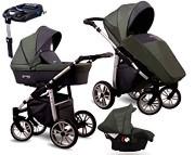 NOWOŚĆ Wózek 4w1 Lonex First (spacerówka + gondola + fotelik Carlo z adapterem + baza isofix) 2020 KURIER GRATIS