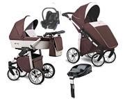 NOWOŚĆ Wózek 4w1 Lonex First (spacerówka + gondola + fotelik Maxi Cosi Cabrio + baza Familyfix) 2020 KURIER GRATIS