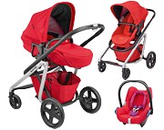 PROMOCJA Maxi Cosi Lila 3w1(stelaż + spacerówka/gondola + fot. Maxi Cosi Cabrio red orchid) kolor nomad red KURIER GRATIS