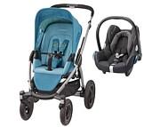 PROMOCJA Maxi Cosi Mura 4 Plus (spacerówka Mosaic Blue + fotelik Maxi Cosi Cabriofix wybrane kolory )