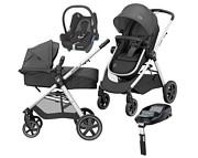 Wózek  Maxi Cosi Zelia (spacerówka/gondola+ fotelik Maxi Cosi Cabrio + baza Familyfix) 2020 KURIER GRATIS