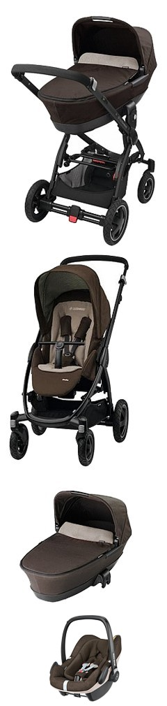PROMOCJA  3w1  Maxi Cosi Stella (spacerówka + gondola Foldable+ fotelik Maxi Cosi Pebble Plus) kolor earth brown Kurier gratis