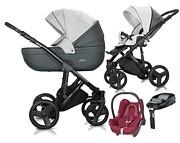 Milu Kids Starlet Eko 4w1 (spacerówka + gondola + fotelik Maxi Cosi Cabrio + baza Familyfix) 2020 KURIER GRATIS