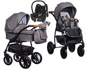 Wózek Paradise Baby Verso (spacerówka + gondola + fotelik Maxi Cosi Cabrio) 2020  KURIER GRATIS