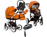 Wózek Paradise Baby Euforia (spacerówka + gondola + fotelik Maxi Cosi Cabrio + baza Familyfix)2019 KURIER GRATIS TANIEJ DO 31.12