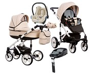 Wózek Paradise Baby Magnetico (spacerówka+gondola+fotelik Maxi Cosi Cabrio+baza Familyfix)2019 KURIER GRATIS TANIEJ DO 31.12