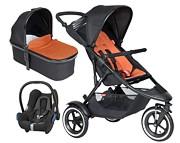 PROMOCJA Phil&Teds Sport 3w1 (spacerówka + gondola + fotelik Maxi Cosi Cabriofix + dodatkowe siedzisko) 2020 KURIER GRATIS