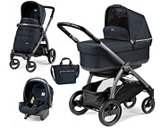 PROMOCJA! Peg-Perego Book 51S New Completo & Modular 2018 (spacerówka +gondola Navetta POP UP+fotelik+torba) Luxe Bluenight