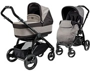 W�zek 2w1 Peg-Perego Book Plus Pop-Up Completo (spacer�wka+gondola Navetta Pop Up) kol. Atmosphere, stela� black GRATIS KURIER